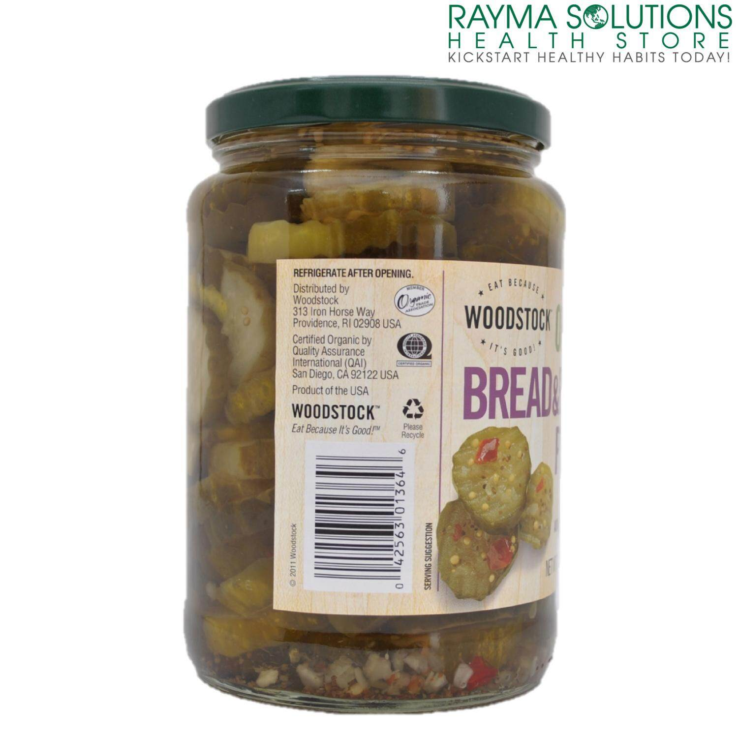 WOODSTOCK Organic Bread and Butter Pickles 710ml