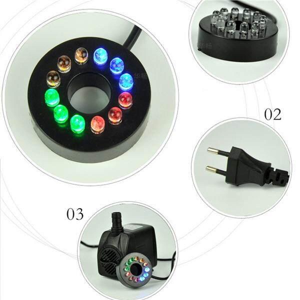 10 W Kuat Pompa Celup dengan Lampu LED Yg Dpt Mengatur Aliran Air untuk Air Mancur Kolam Akuarium Tangki Ikan Patung Steker dengan EU