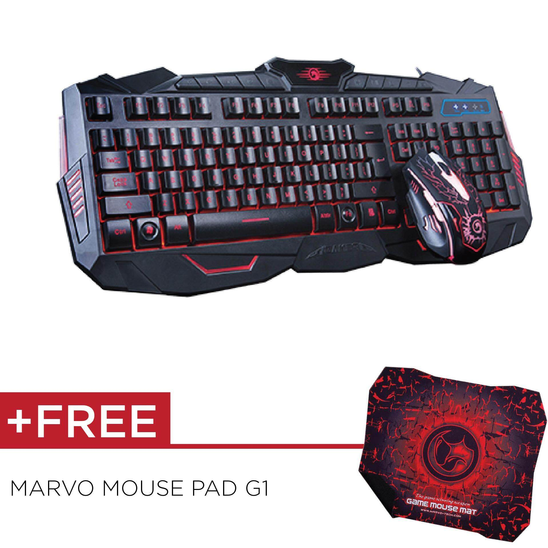 Marvo Scorpion KingKong KM400 Wired Gaming Keyboard  & Mouse Combo Malaysia