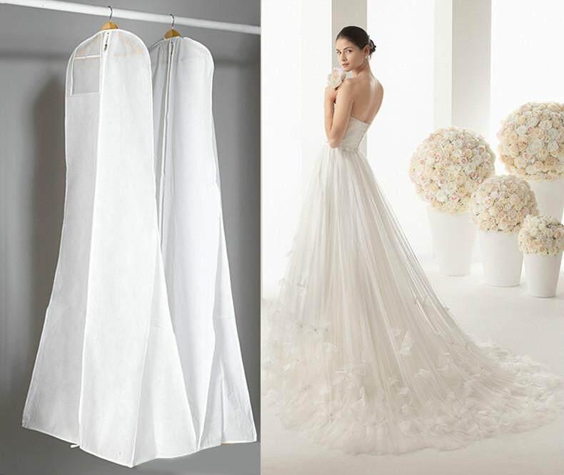 RHS Online 1.8M Showerproof Garment Dress Cover Long Bridal Wedding Dresses Storage Bag - intl
