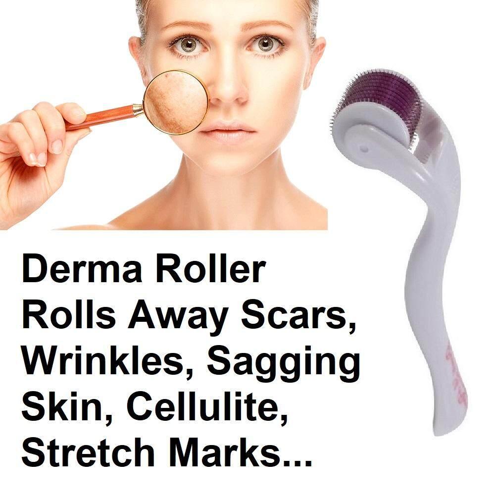 MYR 24. Meso Roller 0.5mm MicroNeedle Derma Roller for Scars Wrinkles Skin Sagging Stretch Marks Cellulite Anti Aging ...