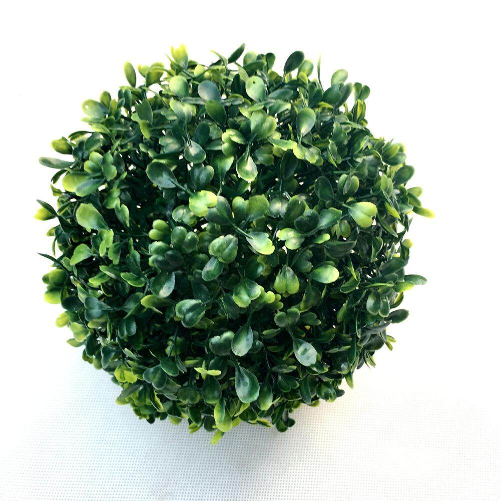 LumiParty Simulate Plastic Leave Ball Artificial Grass Ball Home Party Wedding Decoration Style:15 cm grass ball - intl