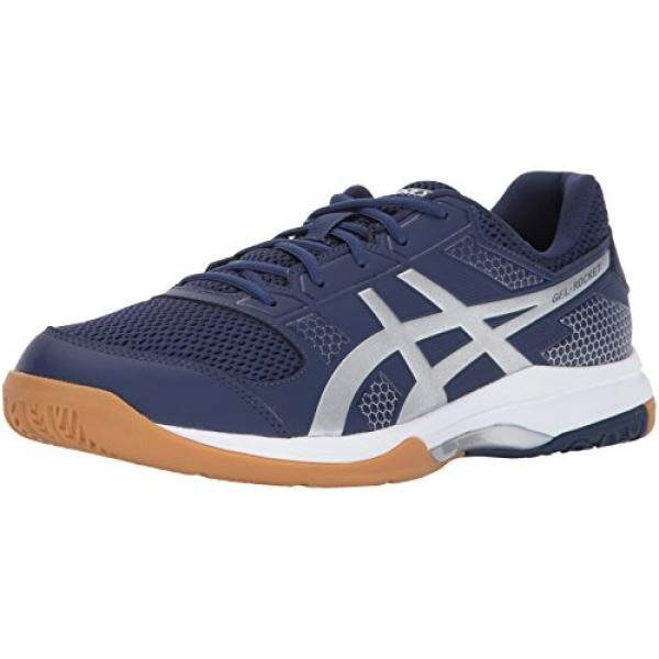 ASICS Mens Gel-Rocket 8 Volleyball Shoe, Indigo Blue/Silver/White,