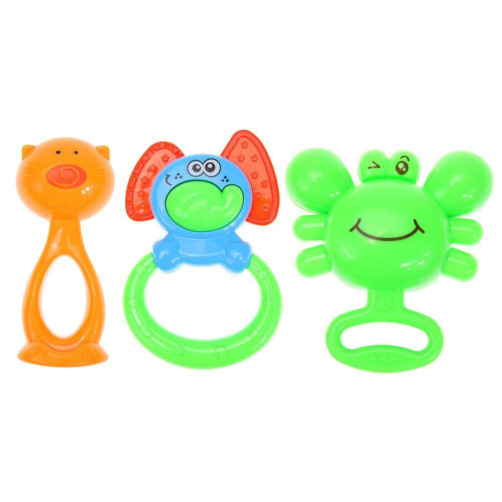 3pcs Baby Hand Rattles Newborn Teethers Grasp Ring Bell Education Toys Gift  -   intl
