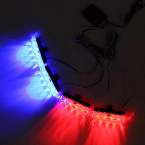 16 Đèn LED Xe Hơi Ô Tô Khẩn Cấp Ánh Sáng Nhấp Nháy Thanh Cảnh Sát Cảnh Báo Đèn Flash Che Dấu Gạch Ngang Chiếu Sáng Đỏ Ánh Sáng Xanh Dương
