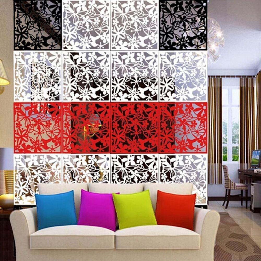 Fityle 12pcs 3-color Butterfly Hanging Room Divider Screens Partition Wall Panel