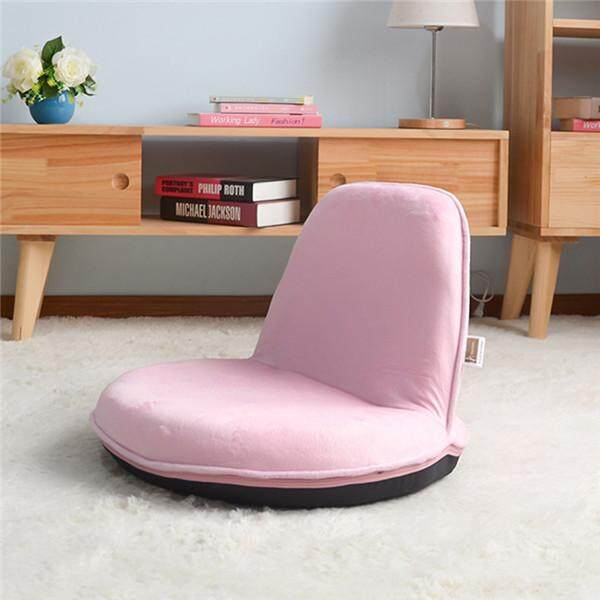 Portable Floor Sofa Chair Kids Folding Chair Children Furniture Adjustable Relax Recliner Seat For Reading, TV Watching Gaming - intl