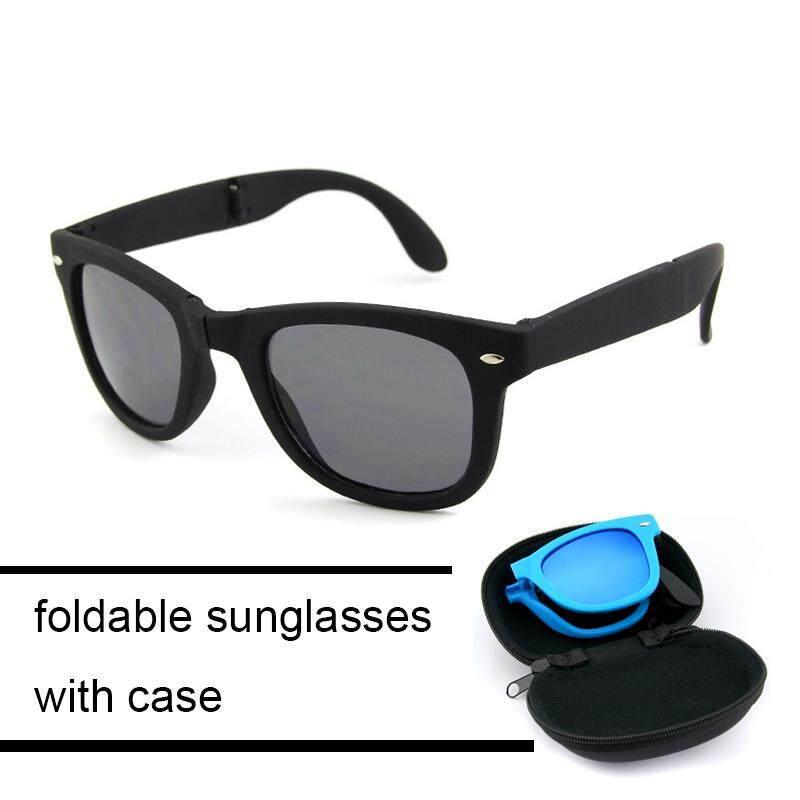 b86044e7b84 fashion Foldable sunglasses for women men folding eyeglasses UV400  protection with case