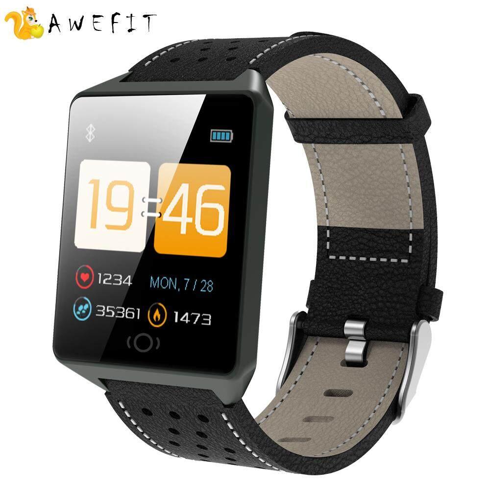 Hình ảnh AWEFIT 2018 New Men Smart watch Clock Fitness tracker H e a r t r a t e monitor Sports Wearable Device Bluetooth smartwatch Bracelet