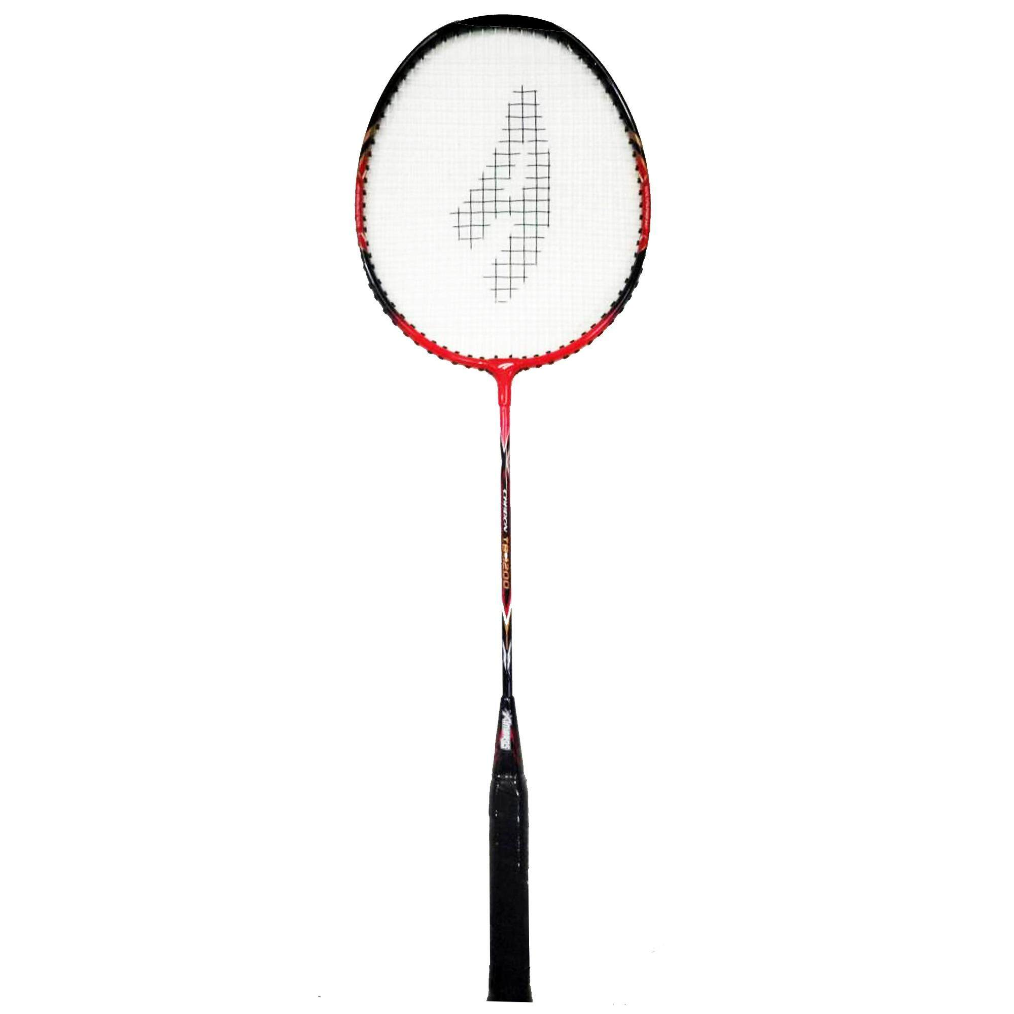 Ambros TB-1200 T-Joint Badminton Racket - Red/Black
