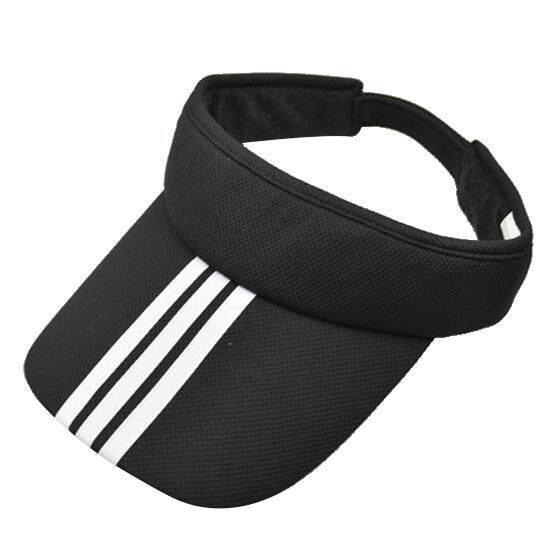 Olahraga Tenis Golf Penutup Cahaya Matahari Topi Topi Disesuaikan Polos Warna Cerah Pria Wanita Hitam-Intl