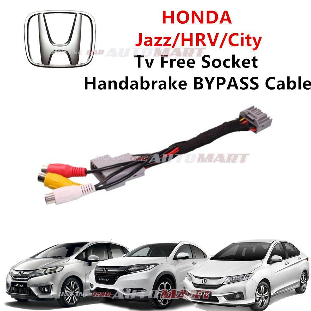 Honda City/Jazz/HRV Plug n Play handbrake ByPass Car DVD Video While Driving In Motion (TV Free Socket)