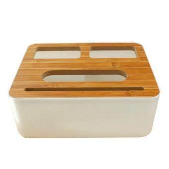 การตรวจสอบของ 3 Styles Removable Plastic Tissue Box With Wooden Cover Phone Holder Napkins Case Home Organizer Decoration ซื้อ - มีเพียง ฿165.35