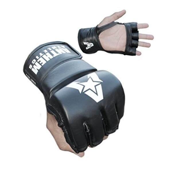 Anthem Athletics PREDATOR MMA Gloves - Training, Kickboxing, 100% Highest Grade Leather - Black - - intl