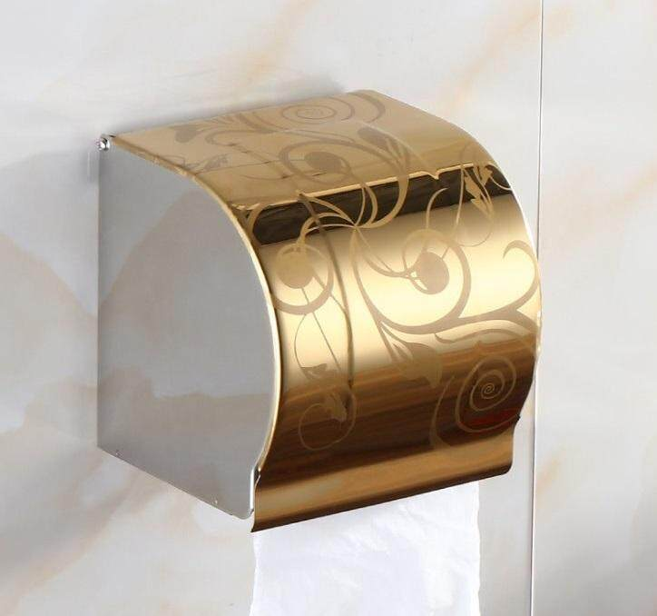 ELEGANT STYLEZ Stainless Steel Wall Mount Toilet Tissue Bathroom Paper Roll Holder Box K101