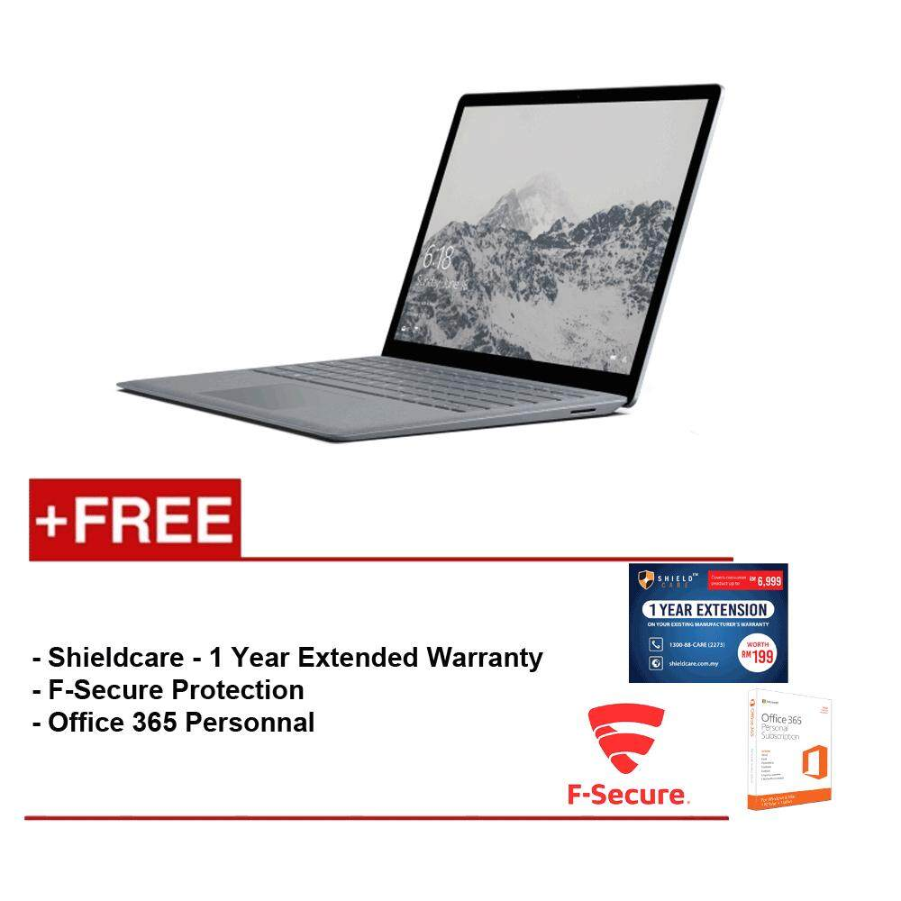Surface Laptop Core i5/4GB RAM - 128GB + Shield Care 1 Year Extended Warranty + F-Secure End Point Protection + Office 365 Personal Malaysia