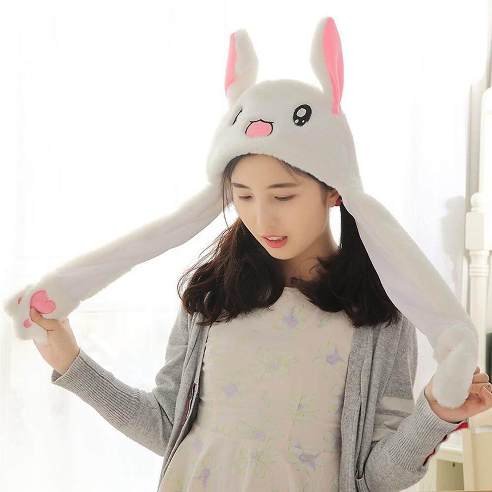 Goodgreat Sedikit Kelinci Topi Airbag Magnet Cap Plush Cute Obrolan Mainan dengan Sama Video Pendek Topi dan tik Tok dengan Ayat-Intl