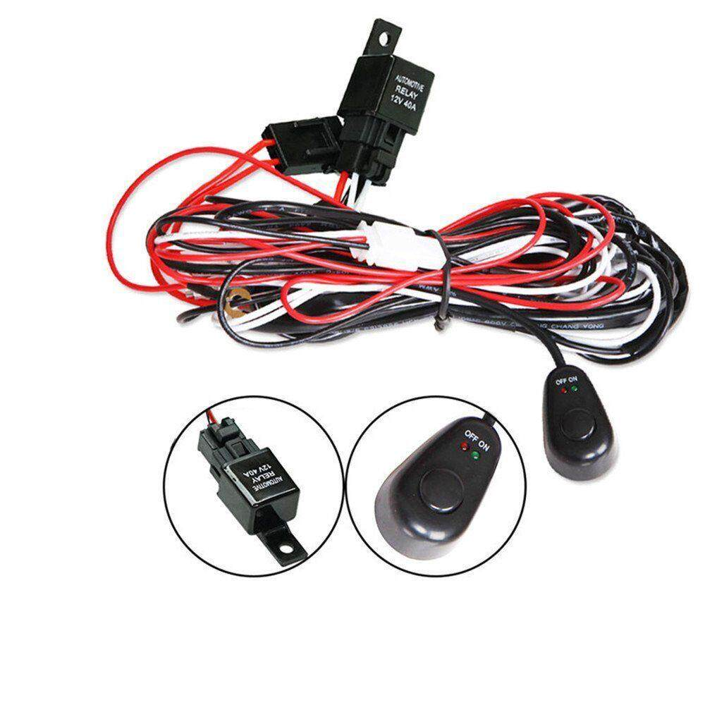 Features Led Light Bar On Off Rocker Switch Wiring Harness Kit 40a For Bars Relay 12v 1x Work Cree