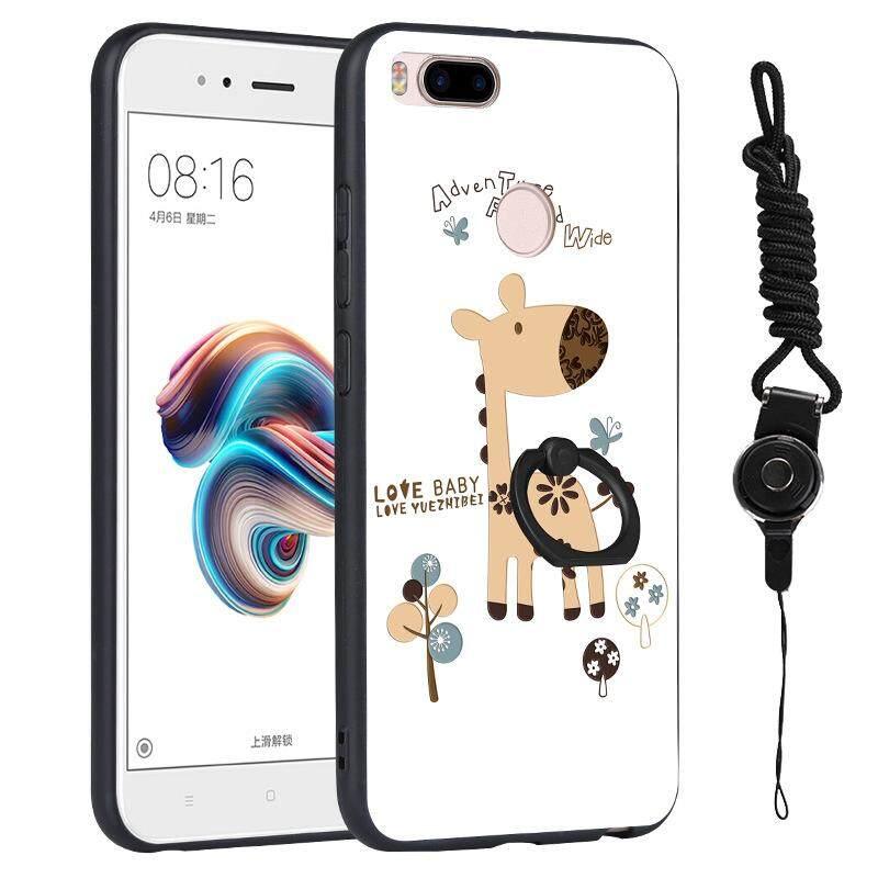 Lucu Kartun Selubung untuk Xiaomi A1/5X TPU Buah Warna Tidak Mengkilap Ponsel Case Lingkaran