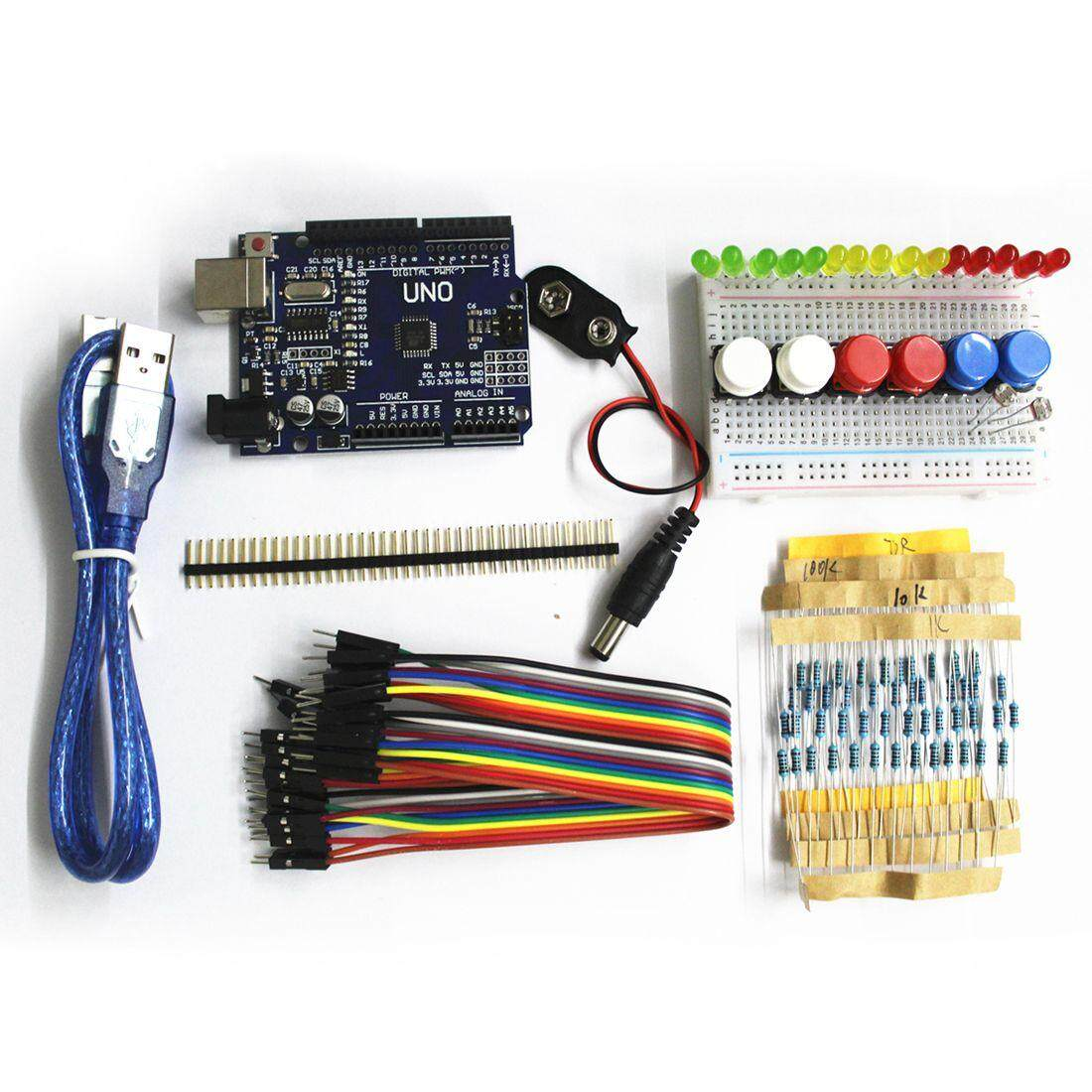 Electric Circuit For Sale Circuitry Prices Brands Review In 220 Gfci Breaker Wiring Diagram Mobile Home Electrical Outlet 1set New Starter Kit Uno R3 Mini Breadboard Led Jumper Wire Button Arduino Compatile