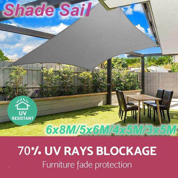 3*5m Sun Shade Sail Cloth Shadecloth Outdoor Canopy Awning Rectangle Square 280gsm Waterproof Anti 70%UV
