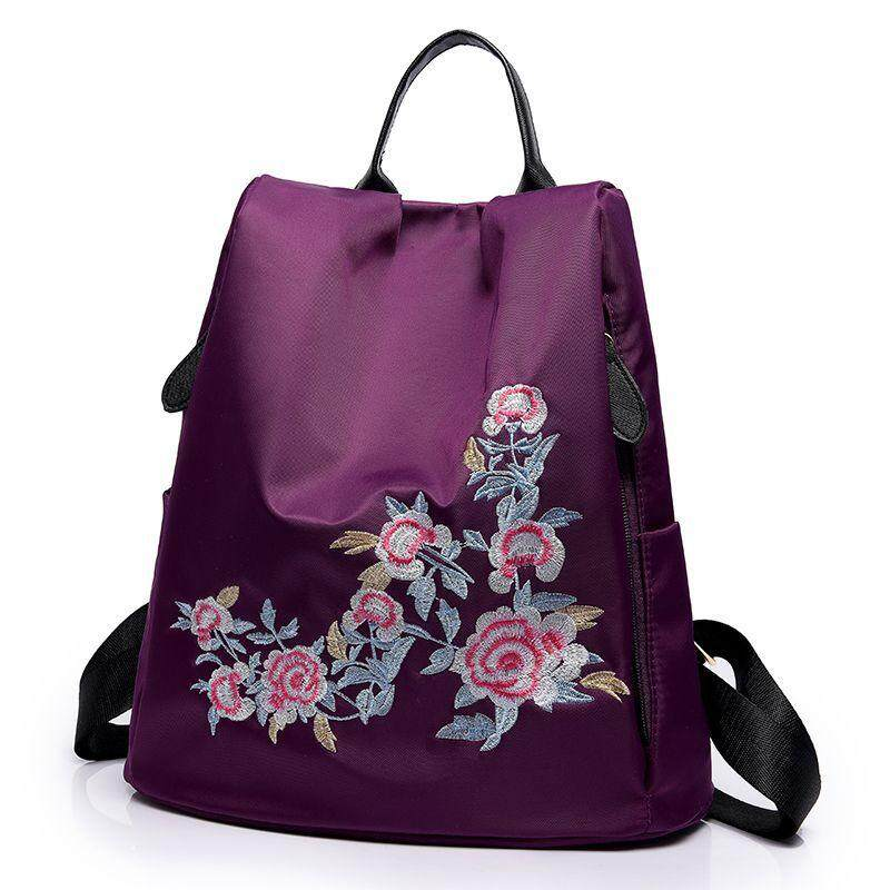 57dfedbffd5401 Anipopy Floral Anti Theft Nylon Backpack Korean Style Daypack Fashion Travel  Bag Grils School Bag