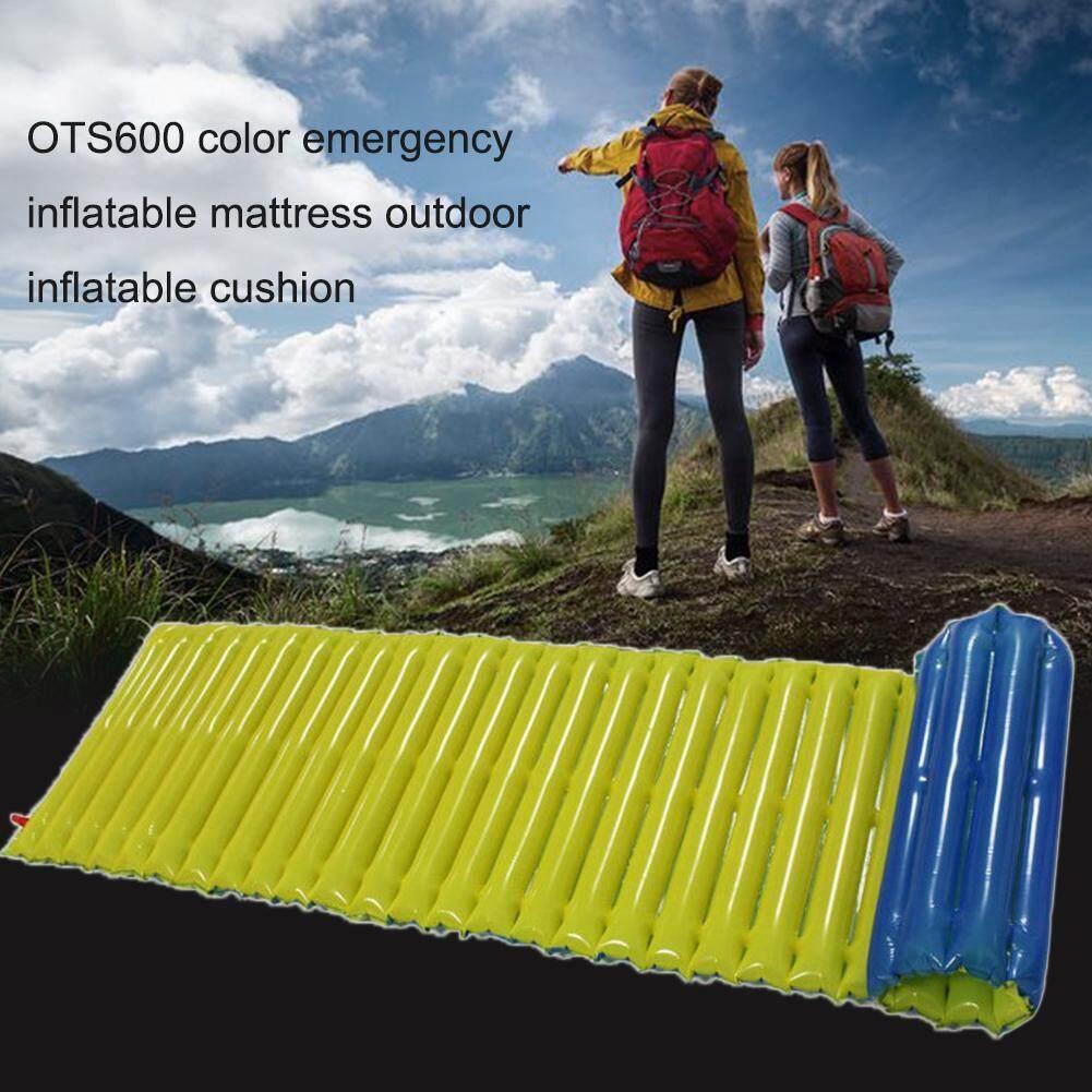 Detail Gambar Emergency Inflatable Cushion Camping Mat Outdoor Mattress Sleeping Pad - intl Terbaru