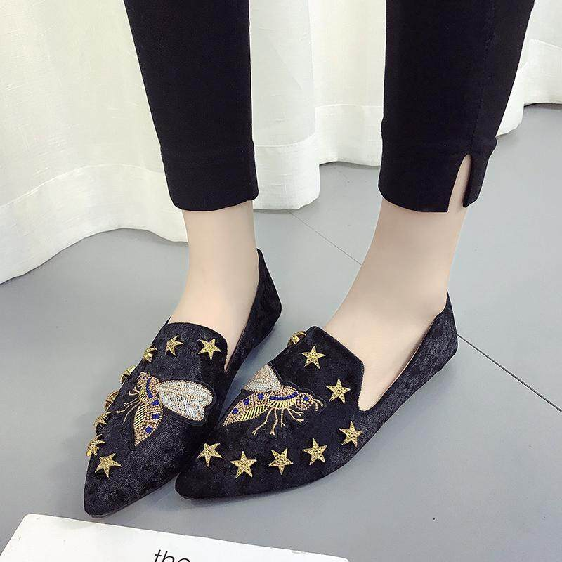 a9b6aa6f6 HOT Womens Boat Shoes Casual Ballet Slip on Flats Loafers Single Shoes Black