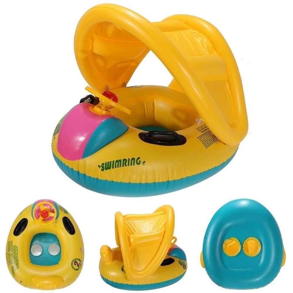Baby Inflatable Swim Ring Sunshade Float Seat Swimming Pool Hoop - intl