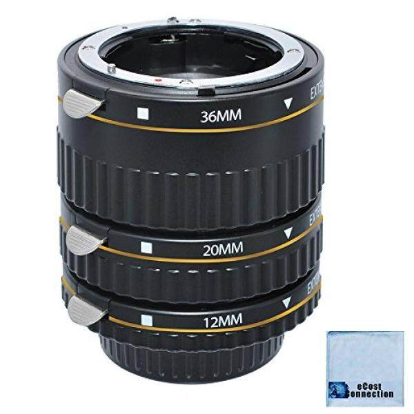 Auto Focus Macro Extension Tube Set for Nikon D5500 D810 D750 D300 D300S D600 D700 D800 D800E D3000 D3100 D3200 D5000 D5100 D5200 D5300 D7000 D7100 DSLR Camera & eCostConnection Microfiber Cloth - intl