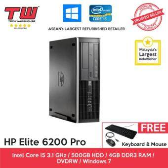 HP Elite 6200 Pro Core i5 / 4GB RAM / 500GB HDD / Windows 7 Pro (SFF) Desktop PC / 3 Months Warranty (Factory Refurbished)
