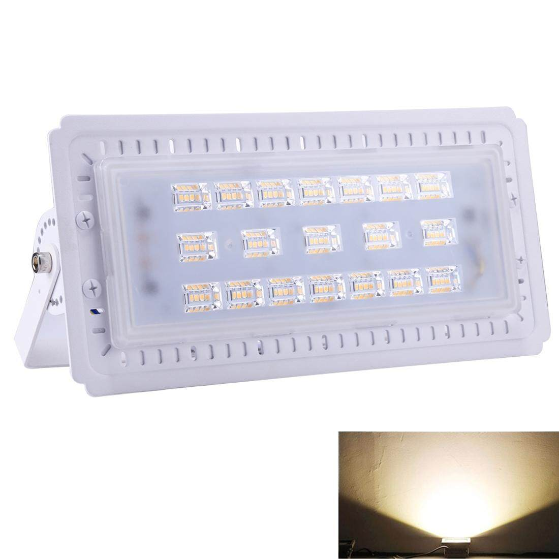50W 228 LEDs SMD 2835 IP65 Waterproof Warm White Light Ultra-thin Linear LED Flood Light, AC 165-265V(White) - intl