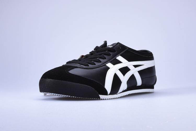 best website 5fd8f 70e5c Classic Onitsuka Running Shoes For Men Tiger Sneakers Fashion MEXICO 66  Sports Shoes Black White