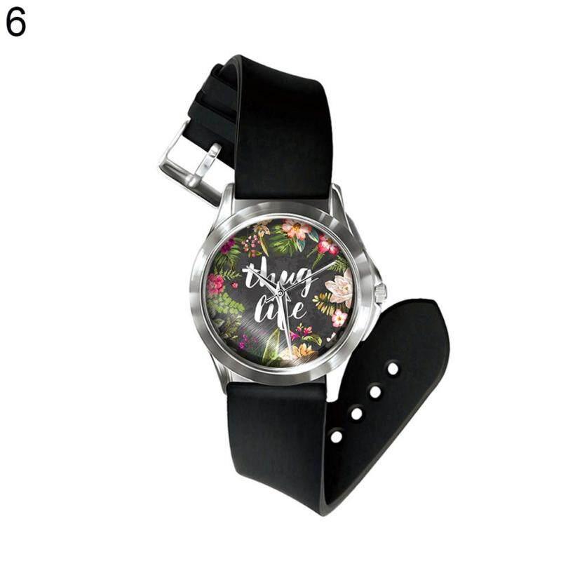 Sanwood® Vintage Flower Leaf Letter Print Dial Analog Display Quartz Unisex Wrist Watch (6#) Malaysia