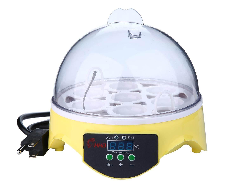 Yazhang 7 Telur Mini Digital Inkubator Telur Transparan Telur Penetasan Mesin Kontrol Suhu Otomatis untuk Ayam Bebek Telur Burung AC220V-AS Steker-Internasional