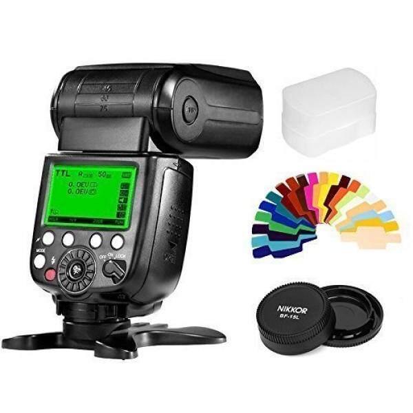 Pixel X800N Standar Wireless Flash Speedlite dengan TTL HSS Fungsi + Lensa Piksel Cap + 20 Warna Filtersfor Nikon D7100 D7000 D5100 D5000 d3200 D3100 D600 D90 D5300 D750 Kamera-Intl