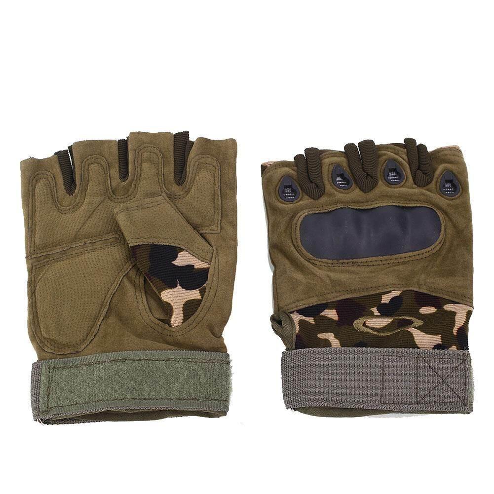 Hình ảnh Grand Store Cattle Bar Half Finger Fingerless Gloves Tactical Motorcycle Bike Sports - intl