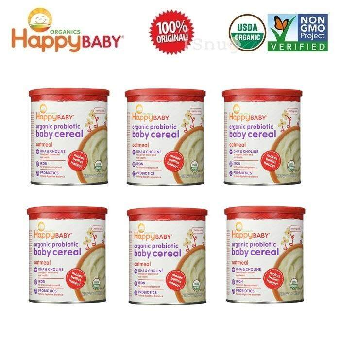 Happy Baby Probiotic Baby Cereal 198g - Oatmeal 6 Units (Expiry: June 2019)
