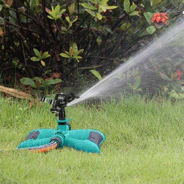 Portable Garden Sprinkler Automatic 360 Degree Rotating Adjustable Lawn Water Sprinkler Irrigation System (BLACK) - intl