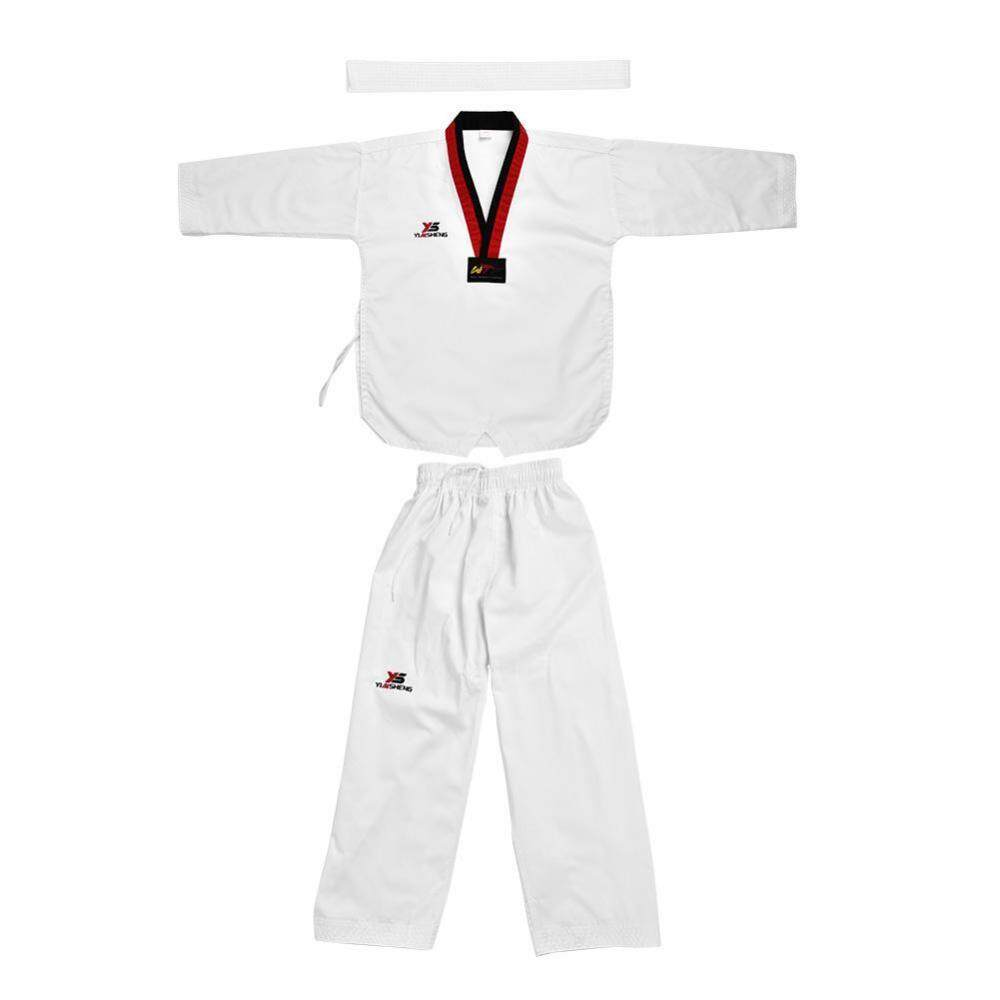 e2cf026f4 Full Cotton Taekwondo Uniform Sportwear Karate Costume for Adults & Kids  (120) - intl