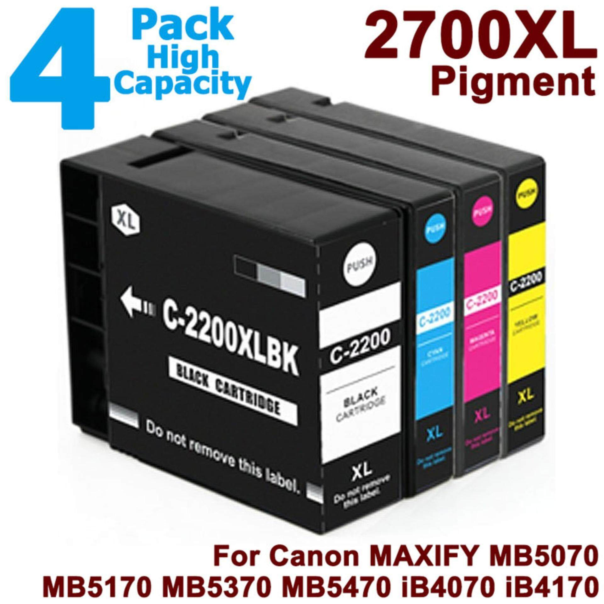 Buy Sell Cheapest Full Ink Cartridge Best Quality Product Deals Canon Cli 751 Yellow Xl Vileed 4 Pack Pgi 2700xl Bk C M Y For Set Print Pgi2700 2700 Pgi2700xl Black Cyan Magenta Replacement