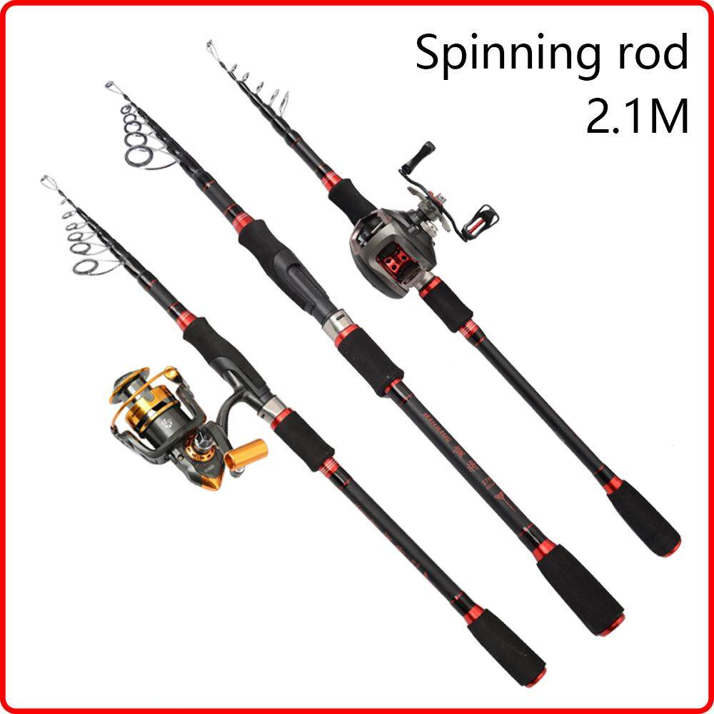 Retractable Hard Carbon EVA Handle Ceramic Guide Ring 135g Spinning Rods Rods Carbon 6 Sections (