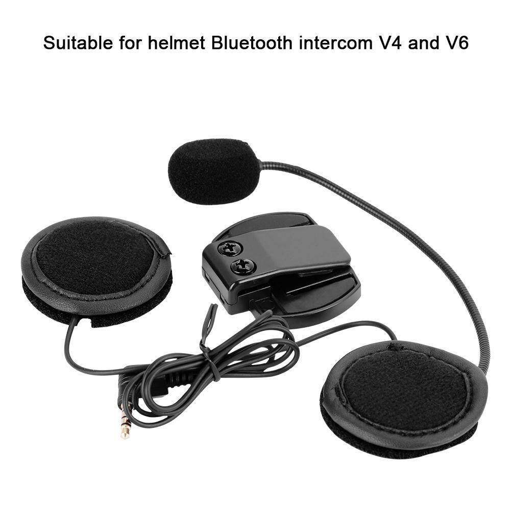 1200M Motorcycle Helmet Bluetooth Headset Speaker Sound Louder with Mike (Black)