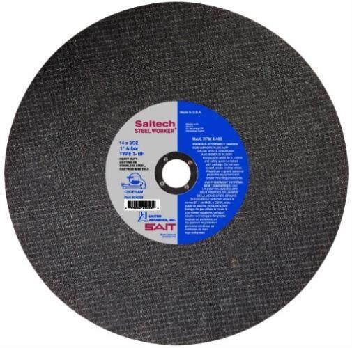 Amerika Abrasive Sait 24053 Tipe 1 14-Inch X 3/32-Inci X 1 Inci Saitech Baja Pekerja gergaji Pemotong Pisau 10-Pack-Intl