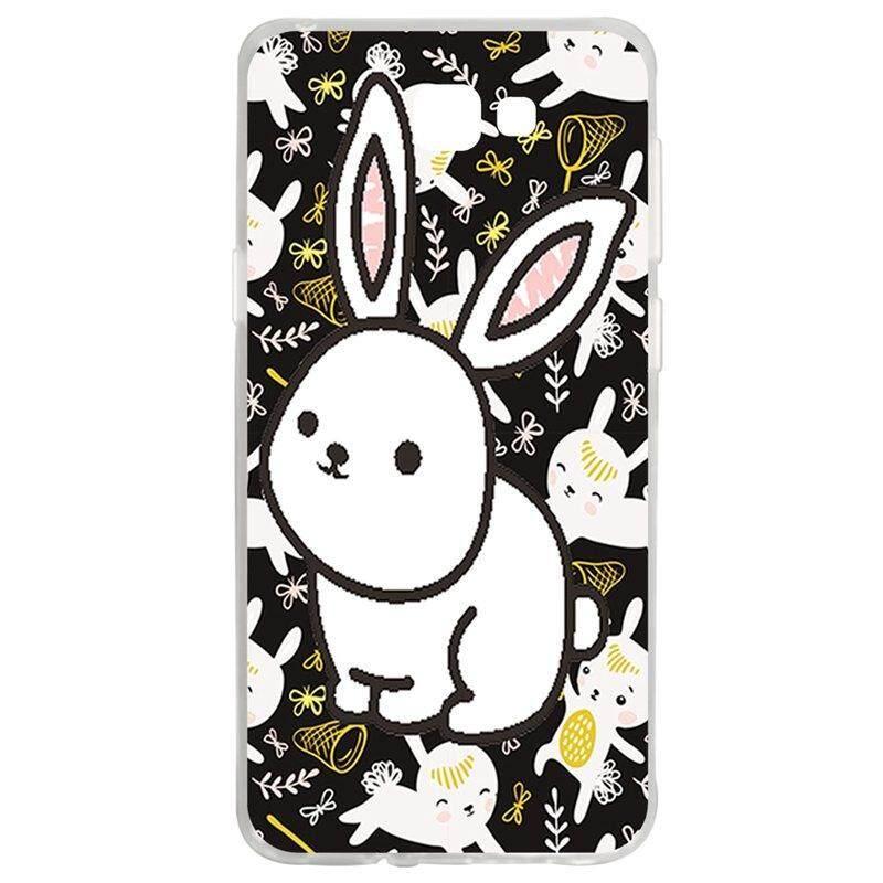 White Rabbit TPU Soft Silicon Phone Case Cover For Samsung Galaxy J5 Prime