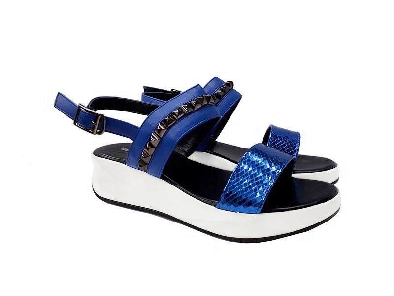 BELLI SHOES HS56032 BLACK & BLUE