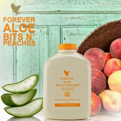 FOREVER LIVING 100% Original Aloe Vera Bits n' Peaches - The Best Source Of Vitamin-A for Kids