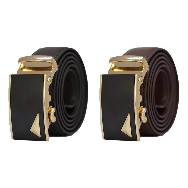 Original A92 Genuine Calf Skin Premium Quality Luxury Leather Men Belt - Adjustable Strap for Size M , L