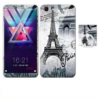"""Paling murah Luxury 3D Painting Front+Back Full Case Cover Color Tempered Glass Case For OPPO A1 / A83 5.7 """" inch Screen Protector Film Shell Phone Mobile ..."""