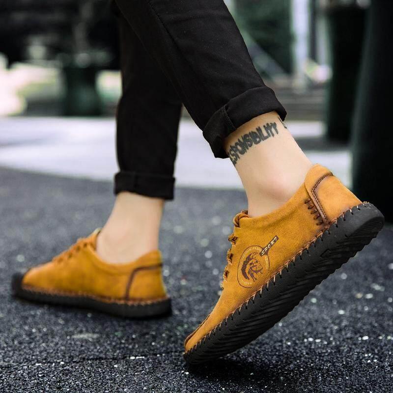 Yealon Sepatu Kulit Sepatu Kulit untuk Pria Kasual Sepatu Kulit untuk Pria Sepatu Kulit Sapi untuk Pria Sepatu Gaya Kasual Pria Kulit Datar Sepatu untuk Pria pria Flat Lembut Sepatu Kulit - 5